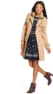 Tommy Hilfiger Contrast-Trim Trench Coat on shopstyle.com
