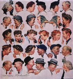 The Gossips ( by Norman Rockwell