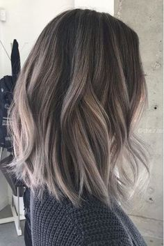 The Biggest Hair Color Trends For 2018: Charcoal