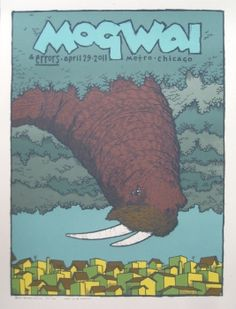 Mogwai 2011 Concert Poster by Jay Ryan Omg Posters, Film Posters, I Am The Walrus, Jay Ryan, La Art, New Poster, Music Covers, Concert Posters, Rock Art