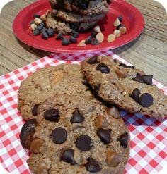 Cookies à l'avoine- pépites caramel et chocolat