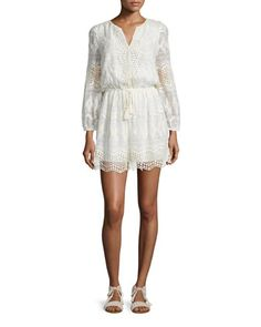 Bittern Embroidered-Lace Dress by Joie at Neiman Marcus.