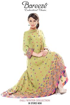 Latest Fashion Trends: Latest Embroidered Dresses By Bareeze For Women 2013-2014 | See more about embroidered dresses, latest fashion trends and latest fashion.
