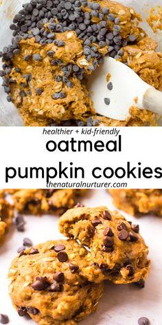 Healthy Cookie Recipes, Healthy Cookies, Healthy Sweets, Healthy Baking, Cooking Recipes, Healthy Pumpkin Desserts, Healthy Breakfast Cookies, Healthy Fall Recipes, Healthy Baked Snacks