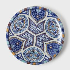 Moroccan Blue Stars Plate