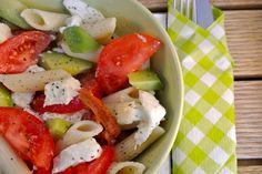 frisse kleurige pasta salade