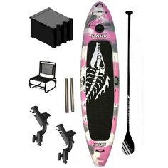 In stock kaku kahuna pink camo paddleboard sup fishing for Pink camo fishing pole
