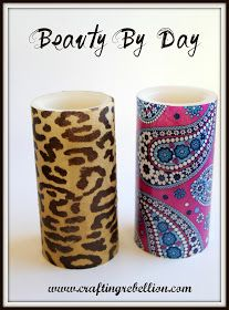 Crafting Rebellion: Vera Bradley Inspired Decoupage Battery Operated Candles