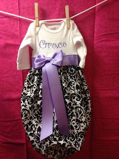 Infant bubble gown ties at the bottom and by SewMeTheMoney on Etsy, $25.00