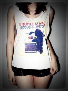 Bruno Mars Shirt Crop Top Tank Tops SideBoob by RockTheWayYouLive, $13.99