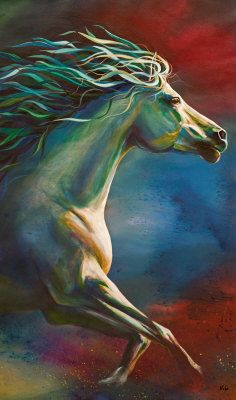 Horse Painting - Runnig Wild by Kim Kubena Horse Drawings, Art Drawings, Horse Artwork, Animal Paintings, Horse Paintings, Equine Art, Horse Pictures, Beautiful Horses, Pretty Horses