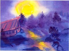 Waldorf ~ 4th grade ~ Norse Mythology ~ Beowulf ~ A Painting Activity ~ homeschool curriculum sample