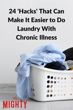 24 'Hacks' That Can Make It Easier to Do Laundry With Chronic Illness #chronicillness Chronic Fatigue, Chronic Illness, Chronic Pain, Fibromyalgia, Doing Laundry, Laundry Hacks, Ehlers Danlos Syndrome, Crohns, Invisible Illness