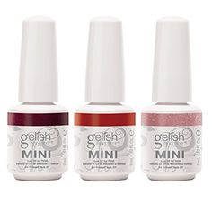 Gelish Mini 3 Bottle Soak Off Solid and Shimmer Gel Nail Polish Collection 9 mL * To view further for this item, visit the image link.Note:It is affiliate link to Amazon.