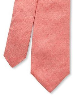 Chambray skinny tie in red/pink or black/charcoal