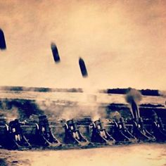 WW1. German heavy mortars firing. - Tom Van Hooff
