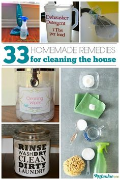 '33 Homemade Remedies for Cleaning the House...!' (via Tip Junkie)
