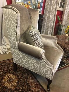 Image result for wingback chair pattern