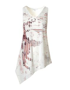 Modern touches of digital print mixed with pretty pink tones makes this tunic a must have for the season. We love the flattering asymmetrical hem that pairs perfect Pink Tone, Back To Work, Work Wardrobe, Mixing Prints, Pretty In Pink, Digital Prints, Tie Dye, Tunic, Tank Tops