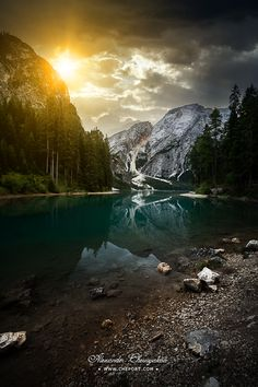 Lago Di Braies and Dolomites, South Tyrol province Trentino Alto Adige Italy Oh The Places You'll Go, Places To Visit, Beautiful World, Beautiful Places, Landscape Photography, Nature Photography, All Nature, Beautiful Sunrise, Northern Italy