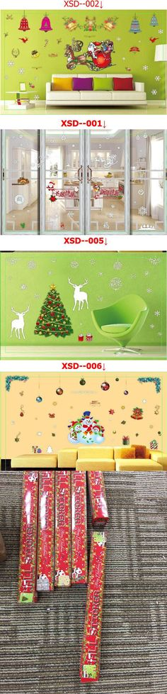 Shop Let It Snow Christmas Window Stickers Glass Stickers Happy New ...