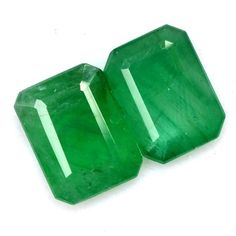 2.51 Cts Certified Natural Emerald Octagon Cut Pair 8x6 mm Deep Green Shade Loose Gemstones Natural Emerald, Shades Of Green, Loose Gemstones, Deep, Trending Outfits, Unique Jewelry, Handmade Gifts, Nature, Vintage