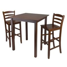 parkland 3 piece high table with 29 ladder back stool - High Kitchen Tables