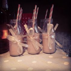 Strawberry milkshake, vintage 21st birthday table decorations