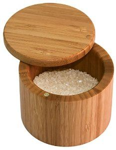 Amazon.com: Totally Bamboo Round Salt Box: Kitchen & Dining