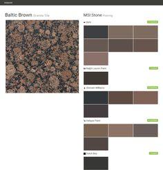Granite Tile. Flooring. MSI Stone. Behr. Ralph Lauren Paint
