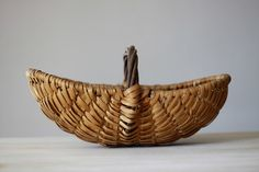 French Vintage Basket Hand Woven. via Etsy.