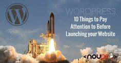 WordPress: 10 Things to Pay Attention to Before Launching your Website http://www.noupe.com/wordpress/wordpress-10-things-to-pay-attention-to-before-launching-your-website-93751.html #wordpress