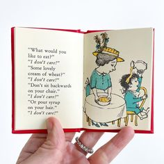 """""""What would you like to eat?"""" """"I don't care!"""" """"Some lovely cream of wheat?"""" """"I don't care!"""" """"Don't sit backward on your chair."""" """"I don't care!"""" """"Or pour syrup in your hair."""" """"I don't care!"""" - Maurice Sendak Containing pocket-size versions of perennial favorites Alligators All Around, Chicken Soup with Rice, One Was Johnny, and Pierre, this pint-size library is perfect for small hands. 📸 @littlebiblio National Book Store, Cream Of Wheat, Maurice Sendak, Reluctant Readers, Alligators, Gifts For Readers, Learning The Alphabet, Picture Books, Library Books"""