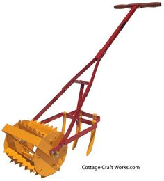 Old-fashioned rotary drum and rear tine garden cultivator. The tiller is Amish made from heavy duty metal, with a metal handle for years of service. Agriculture, Garden Cultivator, Best Garden Tools, Garden Tool Organization, Bush Beans, Farm Tools, Sandy Soil, Home Vegetable Garden, Hardy Plants