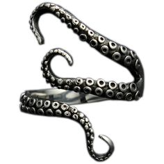 Amazon.com: 316L Stainless Steel Pirate Octopus Tentacles Black... ($3.99) ❤ liked on Polyvore featuring jewelry, rings, stainless steel jewellery, octopus ring, octopus jewelry, pirate ring and stainless steel jewelry