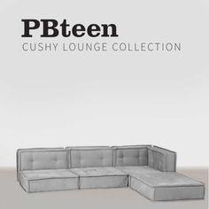 Teen Bedroom Furniture, Floor Sitting, Corner Chair, Lounge Seating, Pottery Barn Teen, Pbteen, Build Your Own, Sectional Sofa, Sleeper Sofa