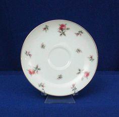 Meito Japan Pattern Rosechintz White Saucer bfe1985 #Meito