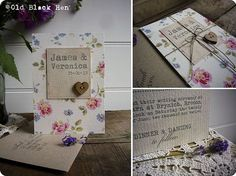 The Cottage Collection - Bespoke Handmade Cath Kidston Wedding Invitation