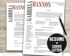 Classy Resume Template  Instant Download by BusinessBranding