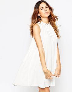 ASOS – Ausgestelltes Sommerkleid mit Ösenverzierung