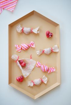 DIY heart crayons for Valentine's Day, wrapped as bon-bons — just don't eat them!   100 Layer Cakelet