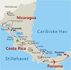Nicaragua-Costa Rica-Panama-en rejse for naturelskere i Mellemamerika.