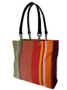 French Cotton Striped bag...Summer Essential!