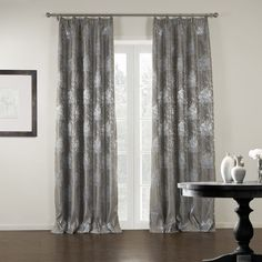 Jacquard Floral Luxury Blackout CurtainJacquard Floral Luxury Blackout Curtain  #curtains #decor #homedecor #homeinterior #brown