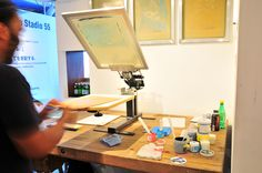 Little screen printing studio