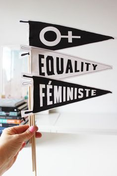 DONE: GIRL EMOTE, Equality Printable Pennants - Perfect Freebie if you are participating in the Women's March on Washington Yes All Women, Feminist Art, Feminist Apparel, Smash The Patriarchy, Riot Grrrl, Protest Signs, Intersectional Feminism, Equality, Social Justice