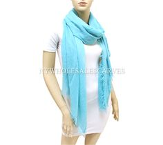 Cashmere Touch Shawl 0985-1 Turquoise