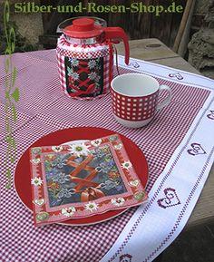 Rot weiß kariert Tischdecke - Silber-und-Rosen-Shop