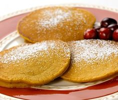 Pumpkin Pie Cranberry Pancakes