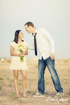 Sweet and romantic engagement photo shoot